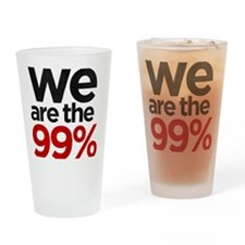 We are the 99% stacked Drinking Glass