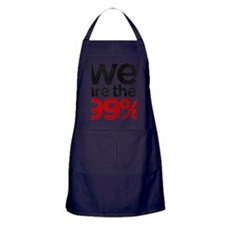 We are the 99% stacked Apron (dark)