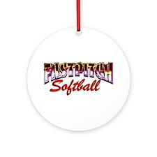 Fastpitch Softball Ornament (Round)