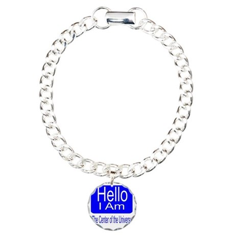 center of universe Charm Bracelet, One Charm