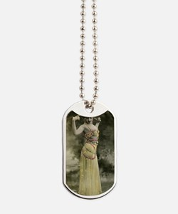 Lunagirl vintage bellydancer yellow Dog Tags