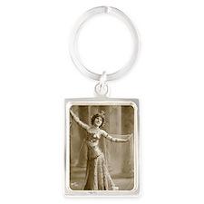 Lunagirl vintage bellydancer Portrait Keychain