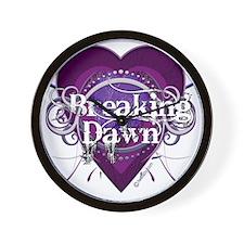 breaking dawn purple heart by twibaby c Wall Clock
