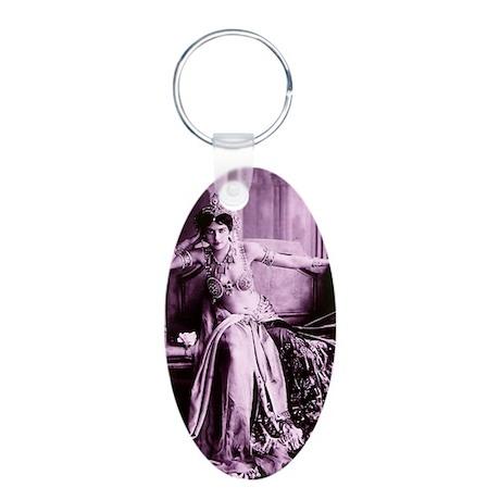 Lunagirl vintage bellydance Aluminum Oval Keychain
