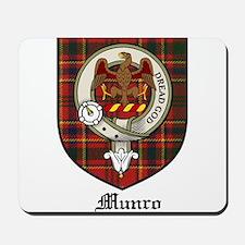 Munro Clan Crest Tartan Mousepad