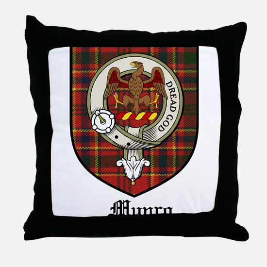 Munro Clan Crest Tartan Throw Pillow