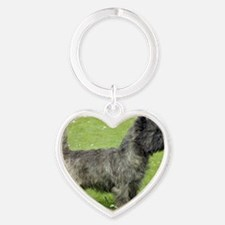 Cairn Terrier 9Y004D-024 Heart Keychain