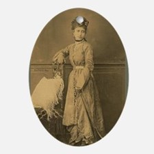 Lunagirl vintage bellydance Oval Ornament