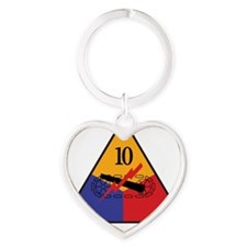 10th Armored Div Heart Keychain