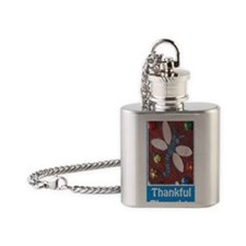 Thankful Thoughts Dragonfly Journal Flask Necklace