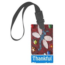 Thankful Thoughts Dragonfly Jour Luggage Tag