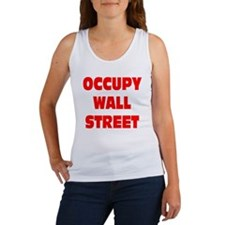 occupy wall street red Women's Tank Top