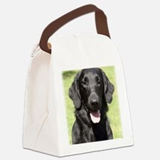 Flat Coated Retriever 9Y040D-040 Canvas Lunch Bag