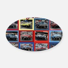 GM-cover Oval Car Magnet