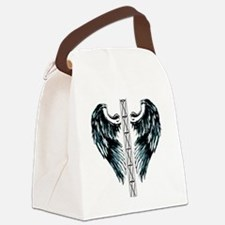 bigtotalwhitebgwingstower Canvas Lunch Bag