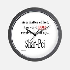 Shar Pei World Wall Clock