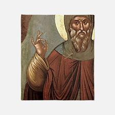 Byzantine icon of St. Anthony. It co Throw Blanket