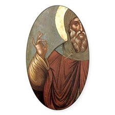 Byzantine icon of St. Anthony. It c Decal