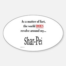 Shar Pei World Oval Decal