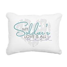 mysoldierslove Rectangular Canvas Pillow