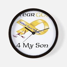 I wear Gold 4 - MY SON-1 Wall Clock