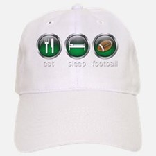 Eat Sleep Football : Green Baseball Baseball Cap