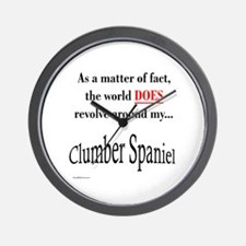 Clumber Spaniel World Wall Clock