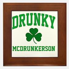 Drunky M Framed Tile