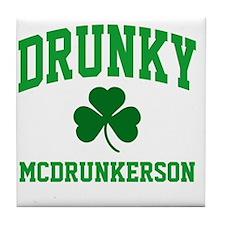 Drunky M Tile Coaster