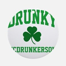 Drunky M Round Ornament