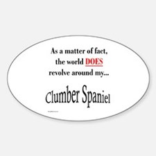 Clumber Spaniel World Oval Decal