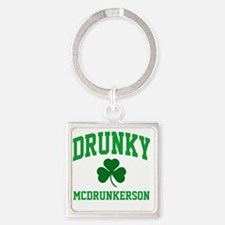Drunky M Square Keychain