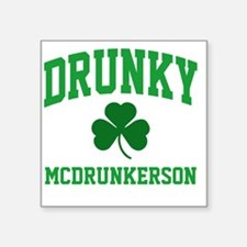 "Drunky M Square Sticker 3"" x 3"""