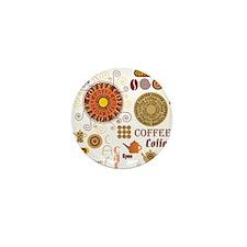 Coffee Cafe Mini Button