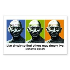 Live simply (white) Rectangle Decal