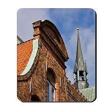 Lubeck. Old Town Buildings on Fleischhau Mousepad
