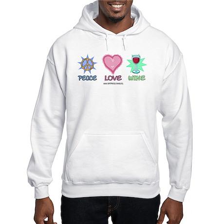 Peace Love & Wine Hooded Sweatshirt
