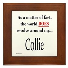 Collie World Framed Tile