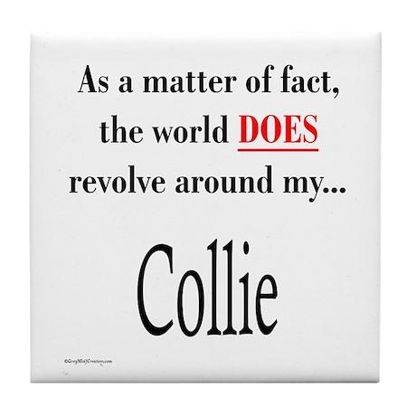 Collie World Tile Coaster