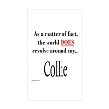 Collie World Rectangle Decal