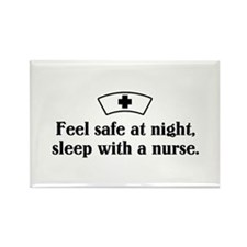 Feel safe at night, sleep with a nurse. Rectangle