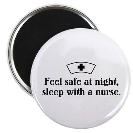 Feel safe at night, sleep with a nurse. Magnet