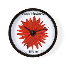 Plant kindness flower Wall Clock