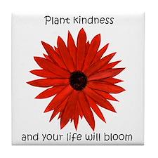 Plant kindness flower Tile Coaster