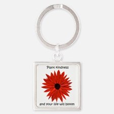 Plant kindness flower Square Keychain