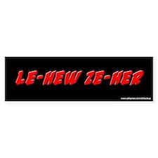 Le-Hew Ze-Her Ace Ventura Bumper Car Sticker