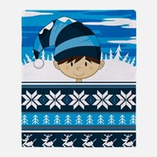 Stripe Pad4 Throw Blanket