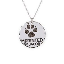 Imprinted Necklace Circle Charm