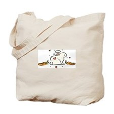 Bunny with Carrots Tote Bag