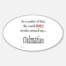 Dalmatian World Oval Decal